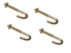 "HOOK BOLTS 4"" SET OF FOUR WITH NUTS"